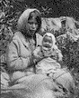 Cheslatta: Michael's wife and baby - 1923