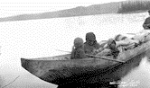 Cheslatta: Family canoe  on Whitesail Lake
