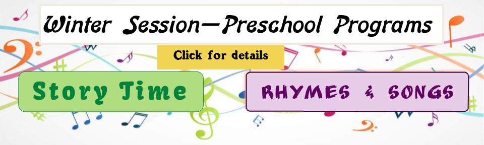Winter Preschool Programs - click for details